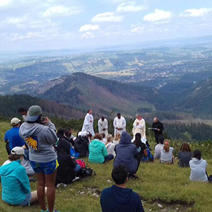mass on mountain